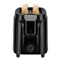 Mainstays Two Slice Toaster, 6-Settings, Black