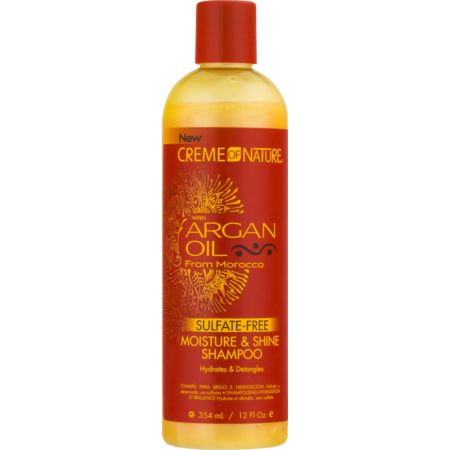 Creme of Nature Argan Oil Moisture & Shine Shampoo, 12 Oz Aloe Herb Oil Shampoo