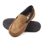 9af621beffb Hanes Men s Moccasin Slipper House Shoe With Indoor Outdoor Memory Foam  Sole Fresh IQ Odor Protection