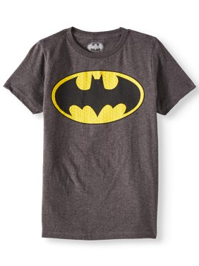 DC Comics Batman Logo with HD Ink Short Sleeve Tee (Little Boys & Big Boys)