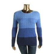 Karen Scott Womens Ribbed Trim Ombre Pullover Sweater 23c88b36a