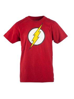 Red DC Comics Flash Logo with HD Ink Short Sleeve Tee (Little Boys & Big Boys)