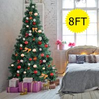 Gymax 8Ft Green Holiday Season Artificial PVC Christmas Tree Indoor Outdoor Stand