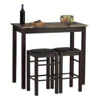 Linon Tavern Collection 3-Piece Table Set, Espresso
