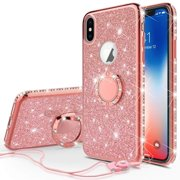 SOGA Diamond Bling Glitter Cute Phone Case with Kickstand Compatible for  iPhone Xs Max Case 24544ac33e