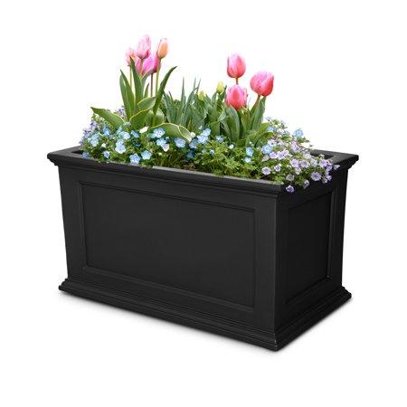 Fairfield Patio Planter 20x36 Black