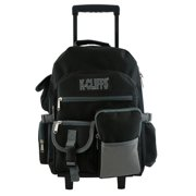 Rolling Backpack Heavy Duty School Backpack with Wheels Deluxe Rolling Book  Bag Daypack multiple Pockets Black 7c047141882fb