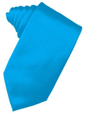 """Men's Solid Satin Neck Tie 59"""" Long. 3.5"""" Wide in Green"""