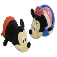 "14"" Disney Mickey Mouse to Minnie Mouse FlipaZoo 2 in 1 Plush"