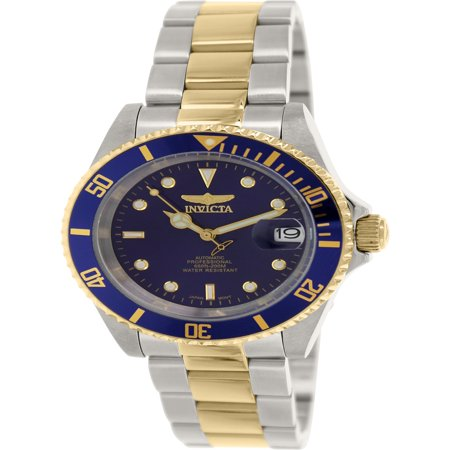 21 Jewel Automatic Watch - Men's 8928OB Pro Diver 23k Gold Plating & SS Two-Tone Automatic Watch
