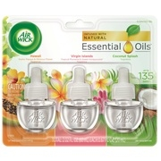 Air Wick Scented Oil 3 Refills, Hawaii/Virgin Islands/American Samoa, (3x.67oz), Air Freshener