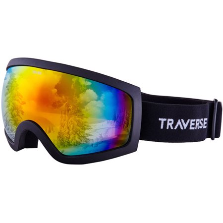 Photochromatic Ski Goggles (Traverse Varia Ski, Snowboard, and Snowmobile Goggles, Obsidian with Phoenix)