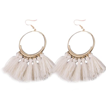 1 Pair Women Ethnic Bohemia Drop Dangle Long Rope Fringe Earings Girl Tassel Earrings Lady Fashion Bohe Jewelry