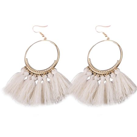 1 Pair Women Ethnic Bohemia Drop Dangle Long Rope Fringe Earings Girl Tassel Earrings Lady Fashion Bohe Jewelry (Washington Redskins Dangle Earrings)