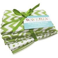Waverly Inspirations 100% Cotton fabric, 5 pieces Fat Quarter Grass