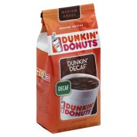 (2 Pack) Dunkin' Donuts Dunkin' Decaf Decaffeinated Ground Coffee, 12 oz