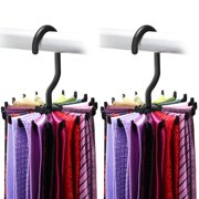 f05aabe0d95d Tie Rack, IPOW Belt Rack Hanger Ties Organizer Holder for Mens Closets, 2  Pack