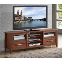 """Techni Mobili Emerald Oak 3-Drawer TV Stand for TVs up to 70"""", Box 1 of 2"""