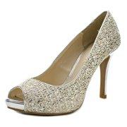 67f6950da60 Audrey Brooke Quillan Peep-Toe Canvas Heels