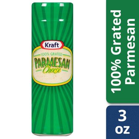 - (2 pack) Kraft 100% Grated Parmesan Cheese Shaker, 3 oz Bottle
