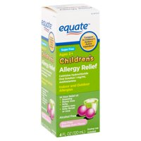 Equate Children's Dye-Free Bubble Gum Flavor Allergy Relief Oral Solution, 1 mg/ml, Ages 2+, 4 fl oz