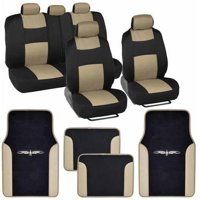 BDK Original Car Seat Covers and Floor Mats, Split Bench, Easy Installation, 6 Colors