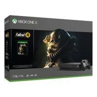 Microsoft Xbox One X 1TB Fallout 76 Bundle, Black, CYV-00146
