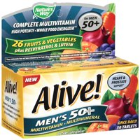 Nature's Way Alive! Men's 50+ Vitamins, Multivitamin Supplement Tablets, 50 Count