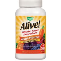 Nature's Way Alive! Max3 Daily Multivitamin Energizer Supplement, 180 Tablets