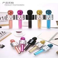 Wireless Music Microphone Handheld Karaoke Mic USB KTV Player Bluetooth Speaker