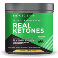 Keto Science Real Ketones Powder Dietary Supplement, Lemon, 5.3 oz., 15 Servings