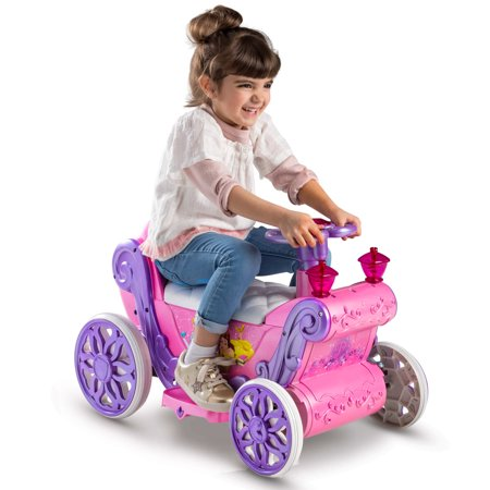 Disney Princess Girls' 6V Battery-Powered Ride-On Quad Toy by Huffy - Ride On Toys For 4 Year Olds