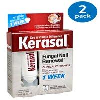 (2 Pack) Kerasal nail Fungal Nail Renewal Treatment, .33 oz