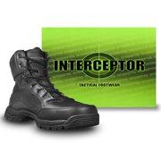 Interceptor Men's Force Tactical Steel-Toe Work Boots, Black Leather