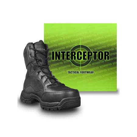 Interceptor Men's Force Tactical Steel-Toe Work Boots, Black