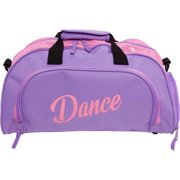Silver Lilly Womens Nylon Dance Duffel Gym Bag w  Shoe Compartment dad231bf62b74