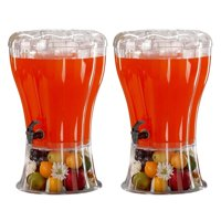 2 Pack Cold Beverage Drink Dispenser Unbreakable 3.5 Gallon BPA Free with Ice Cone, Parties, Weddings, Catering, Events