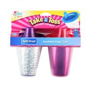 The First Years Take & Toss Insulated Hard Spout Sippy Cup, 2 Pk