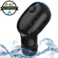 Waterproof IPX7 Wireless Earbud, V4.2 Mini Bluetooth Earbud, Car Bluetooth Headset Invisible Headphone with Mic, 10-Hr Playing Time Cell Phone Bluetooth Earpiece for iPhone Samsung Android (Single)