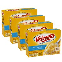 (4 Pack) Velveeta Shells & Cheese Made with 2% Milk Cheese, 12 oz Box