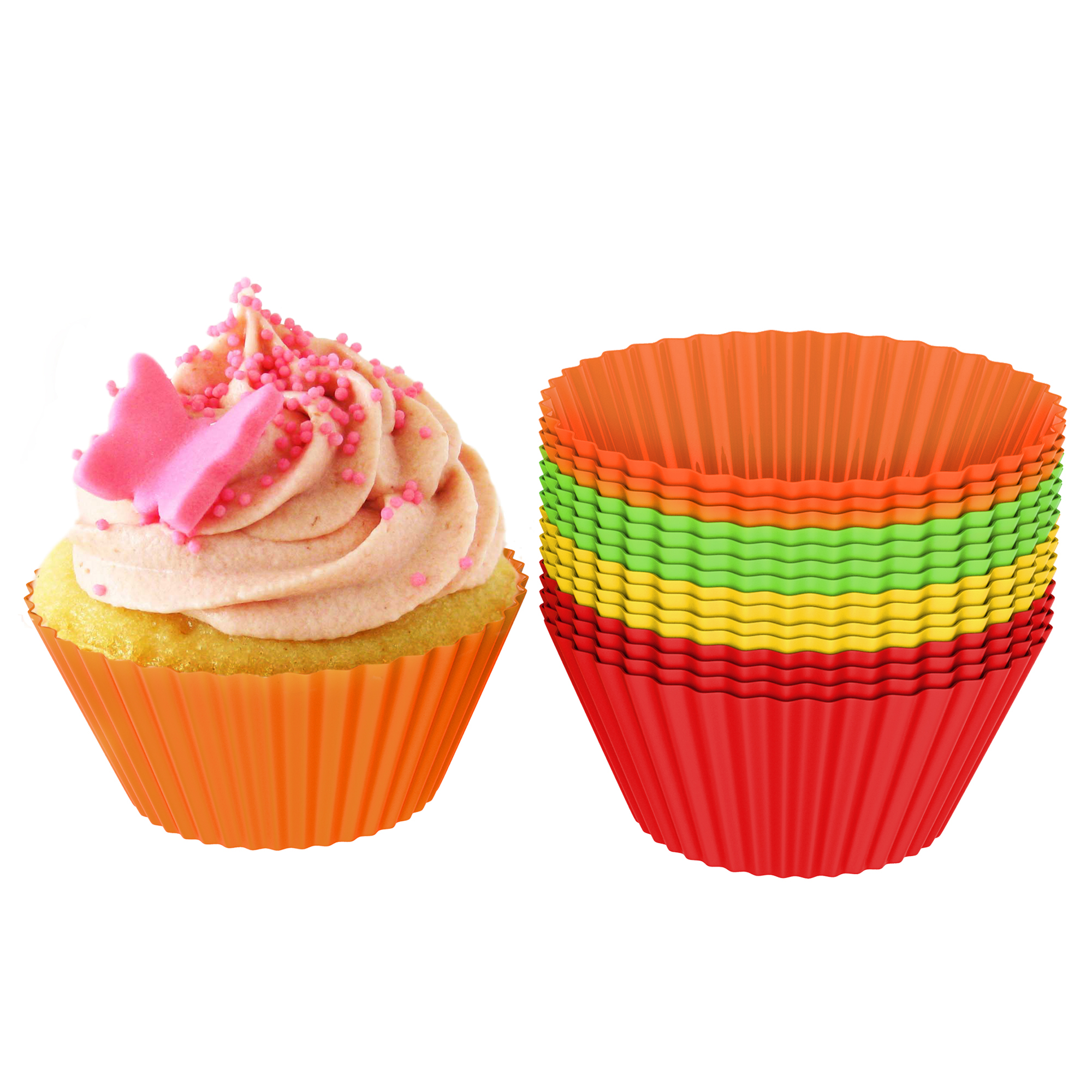 Party FANCYLEO EU 100PCS Large Cupcake Liners Paper Round Cake Baking Cups Muffin Cases for Wedding Birthday White