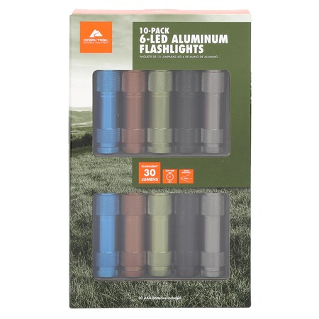 1900 Flashlight - Ozark Trail Aluminum Flashlight 10-Pack