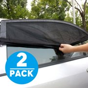 TSV 2-pack Car SUV Premium Rear Side Window Sun Visor Shade Mesh Cover  Shield 509322c56b1