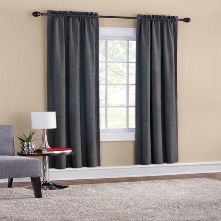 Mainstays Room Darkening Threaded Print Curtain Panel Pair
