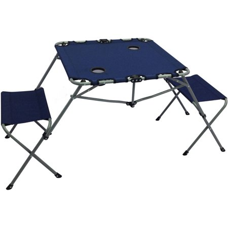 Ozark Trail 2 In 1 Table Set With Two Seats And Cup Holders