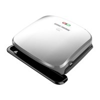 George Foreman 4-Serving Removable Plate Electric Indoor Grill and Panini Press, Platinum, GRP3060P
