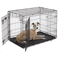 MidWest Double Door iCrate Metal Dog Crate 36-Inch Black
