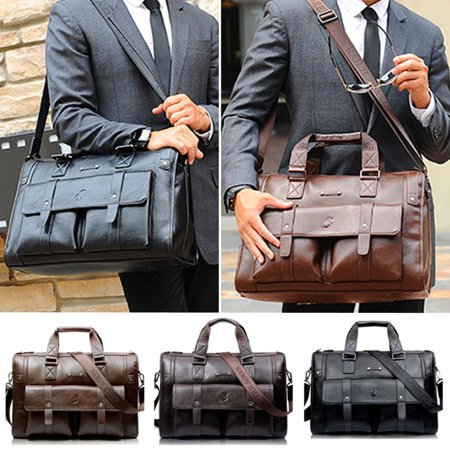 2018 Vintage Men Waterproof Leather Satchel Messenger Handbag Laptop Briefcase Bag