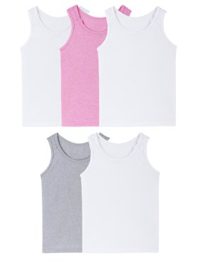 Assorted Layering Tanks, 5 Pack (Toddler Girl)