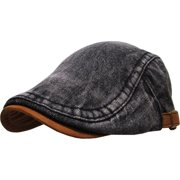 3c2b9a1a9feda Denim Gatsby Cap Mens Denim Hat Golf Driving Summer Cabbie Newsboy